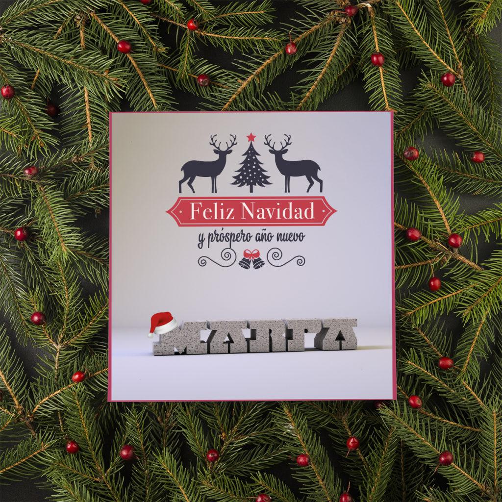 tarjeta navideña diseño