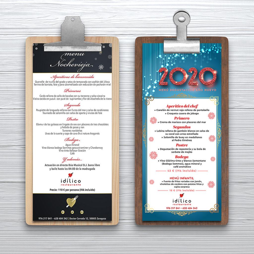 diseño menu restaurante