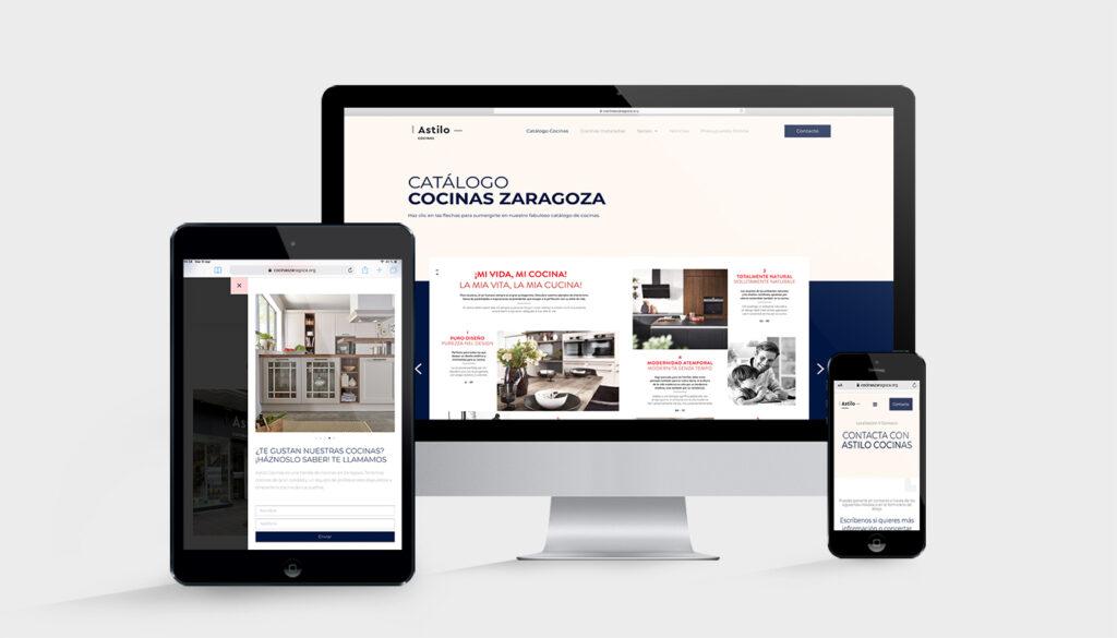 diseño web Cocinas Zaragoza