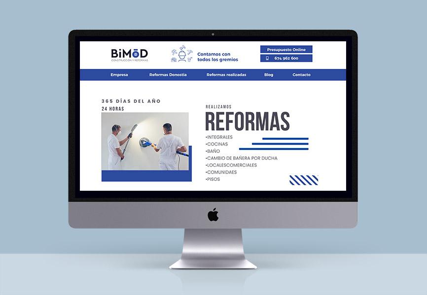 nueva web bimod donostia construccion y reformas