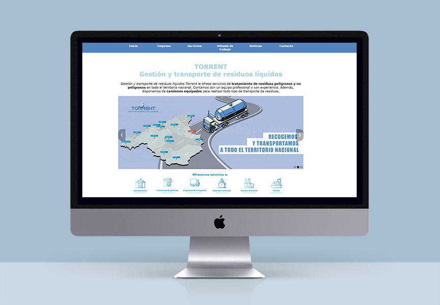 diseño web torrent residuos líquidos web diseño