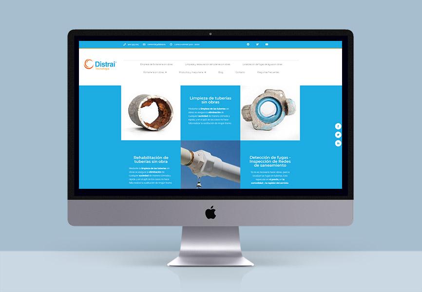 diseño web fontanería sin obras distra etcnología