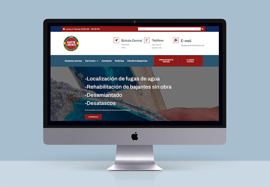 diseño web para empresa grupo martin lorenzo