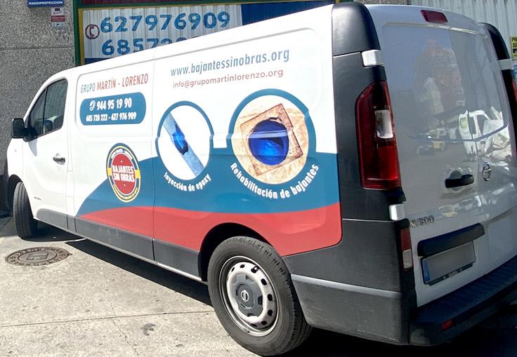 vinilo furgoneta grupo martin lorenzo